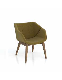Isotta Soft Armchair - 4 Leg Timber